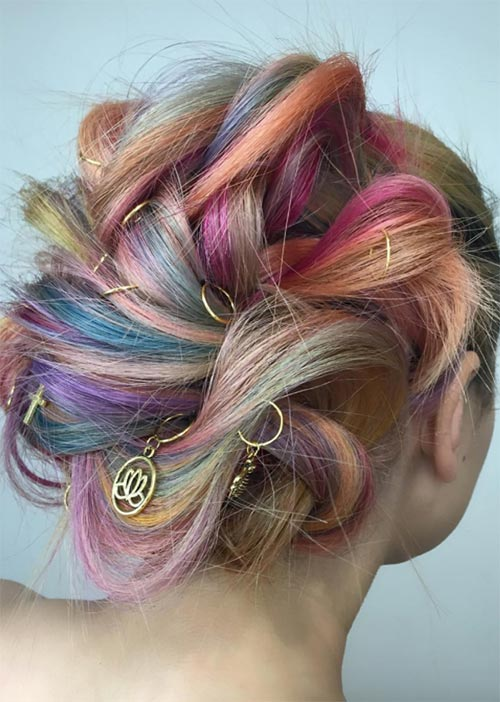 Pretty Holiday Hairstyles Ideas: Accessorized Loose Updo