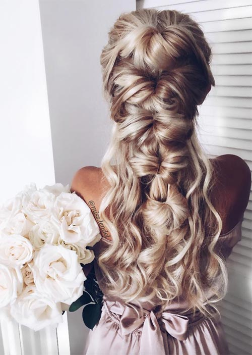 Pretty Holiday Hairstyles Ideas: Knotted Half-Up Hairstyle