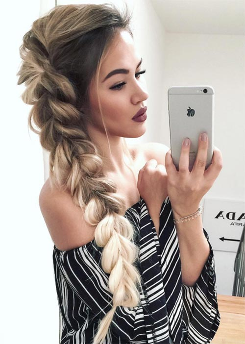 Pretty Holiday Hairstyles Ideas: Long Side Braid