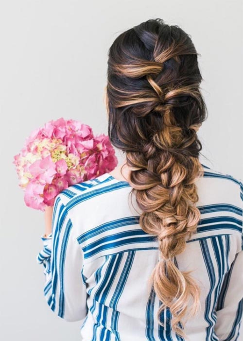 Pretty Holiday Hairstyles Ideas: Textured French Braid