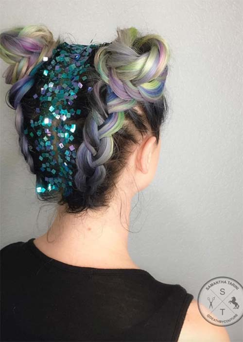 Gorgeous Glitter Hairstyles Perfect Parties