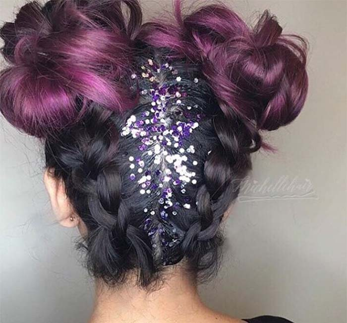 25 Gorgeous Glitter Hairstyles Perfect For Parties