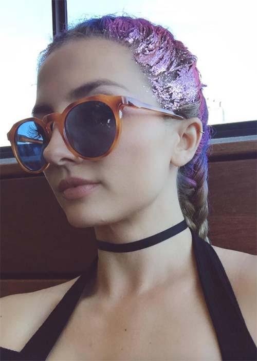 Glitter Hairstyles Ideas: Glitter Boxer Braids