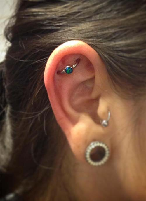 Types of Ear Piercings: Orbital Piercing
