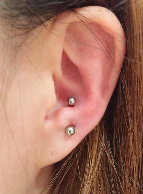 Types of Body Piercings: Ear Piercings - Anti-Tragus Piercing