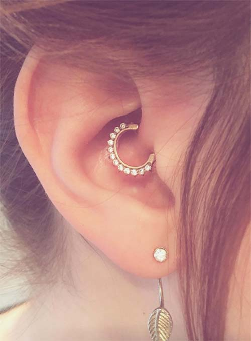 Types of Body Piercings: Ear Piercings - Daith Piercing