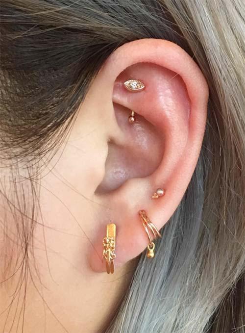 Types of Body Piercings: Ear Piercings - Rook Piercing