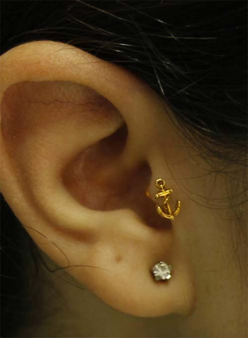 Types of Body Piercings: Ear Piercings - Tragus Piercing