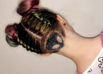 Glitter Undercut Hairstyles Are Here To Inspire Your Coachella Hair Look