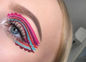 The Intricate Winged Eyeliner is the New Colorful Summer Trend