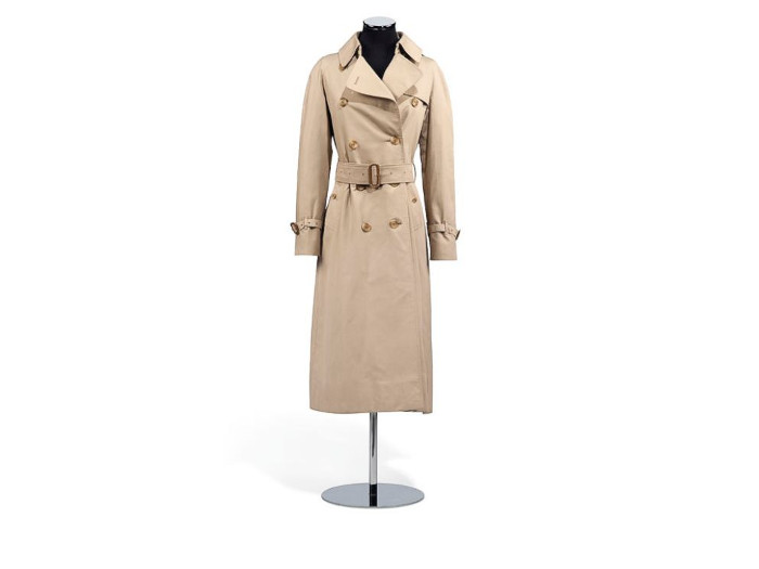 Audrey Hepburn's Personal Belongings Up For Auction at Christie's Burberry Trench Coat