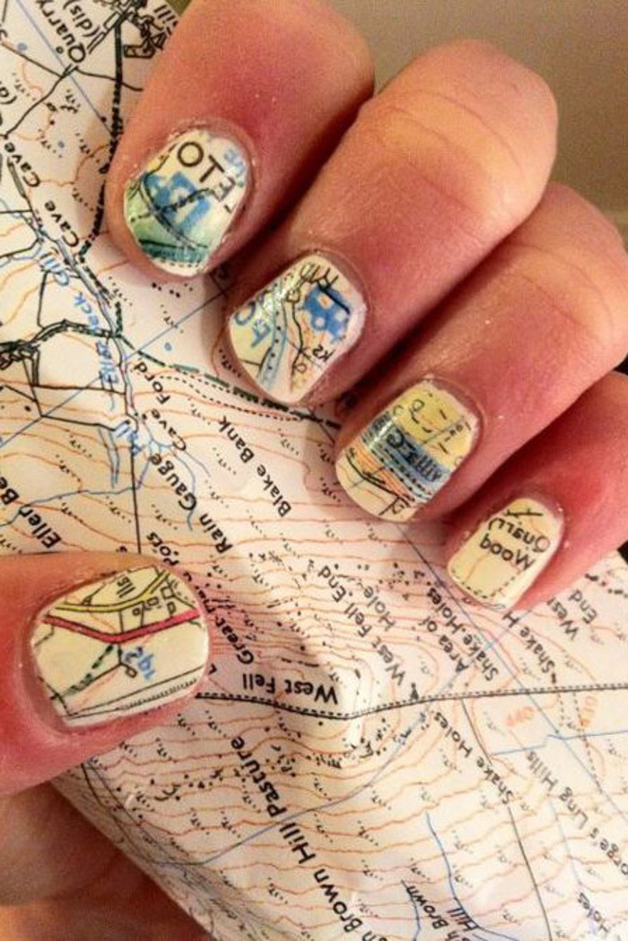 Best Summer Nail Designs for Summer 2017 travel-inspired nails