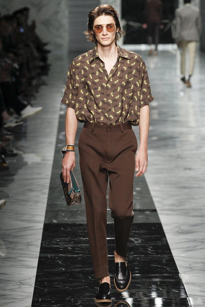Fendi Men's Spring 2018 Collection shirt with banana ilustration