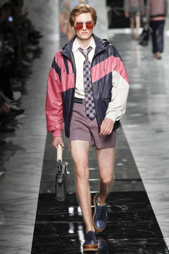 Fendi Men's Spring 2018 Collection shorts bomber jacket