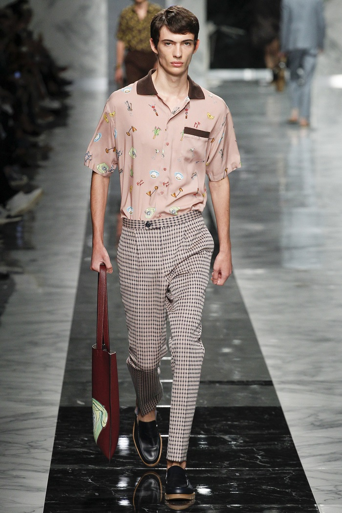 Fendi Men's Spring 2018 Collection shirt pants