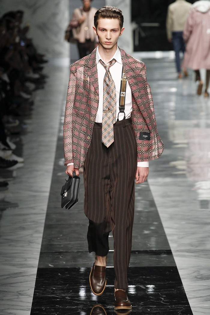 Fendi Men's Spring 2018 Collection suit