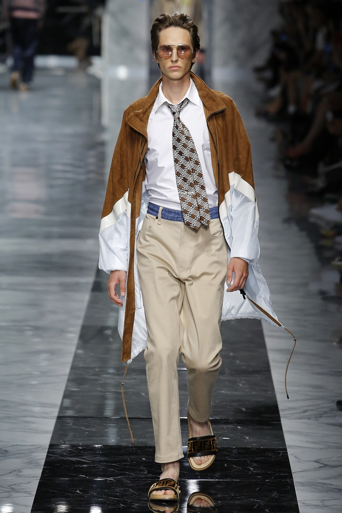 Fendi Men's Spring 2018 Collection pants, shirt coat