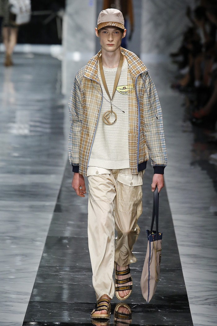Fendi Men's Spring 2018 Collection pants, sweater, jacket