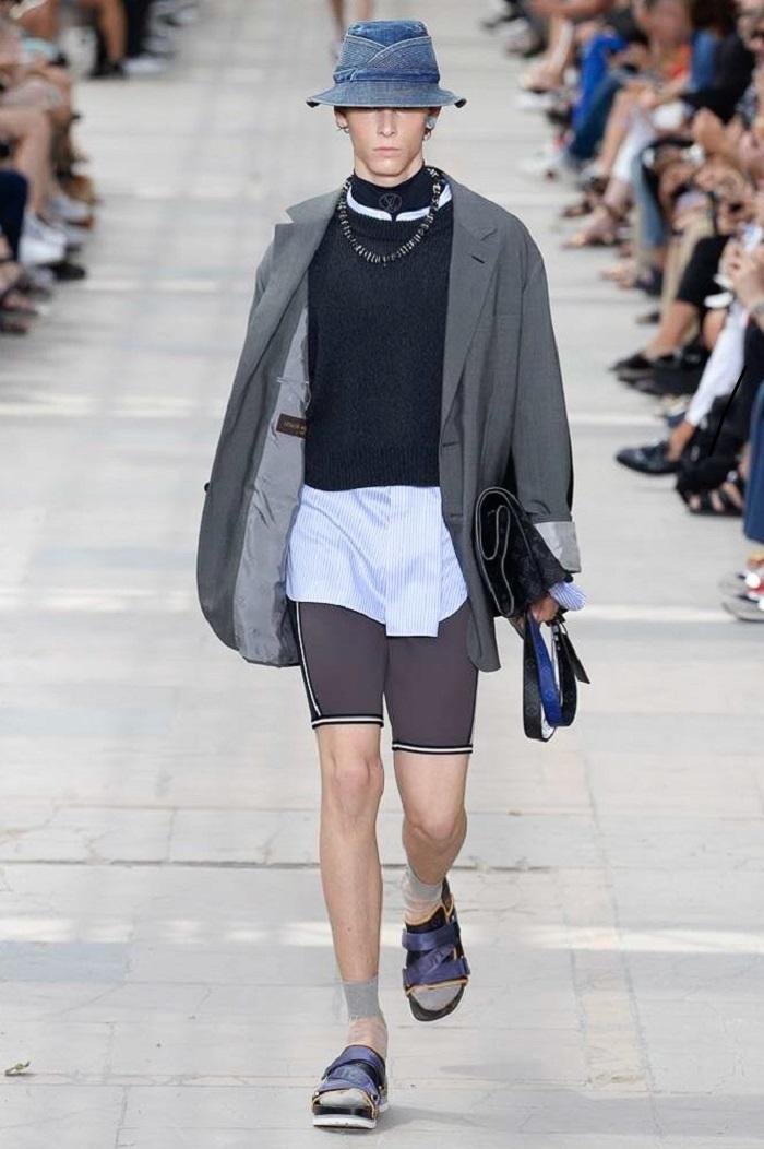 Louis Vuitton Men's Spring 2018 Collection scuba shorts