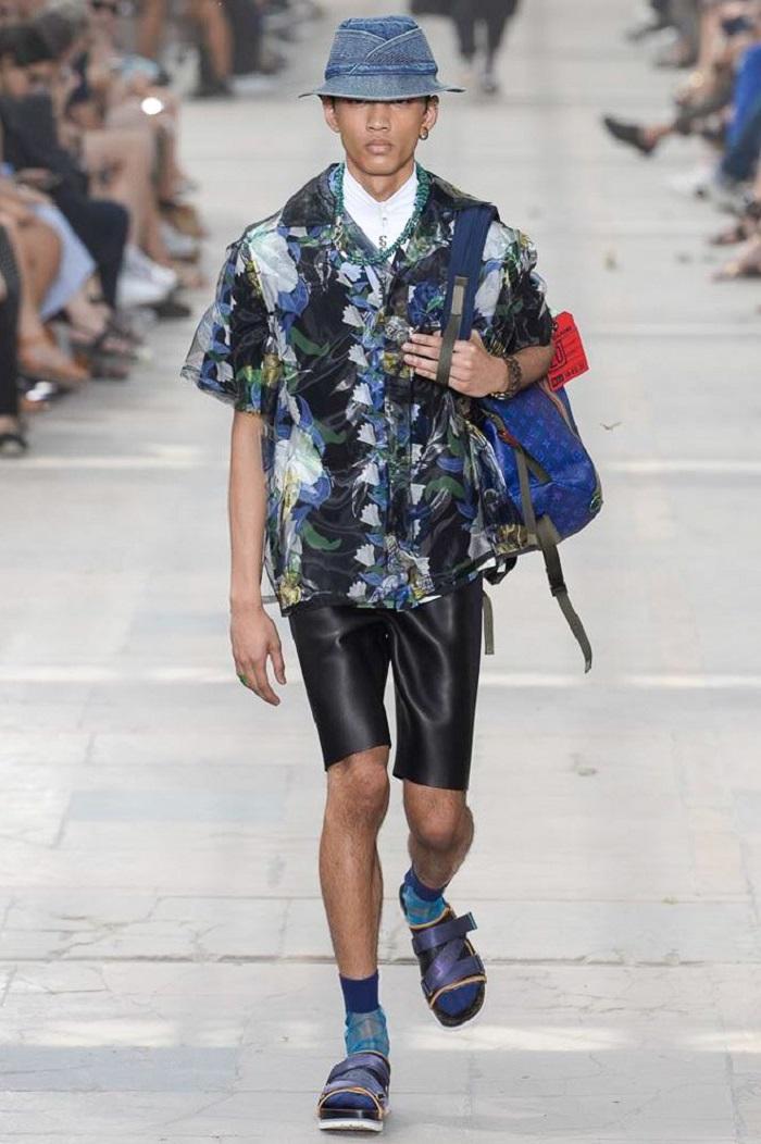 Louis Vuitton Men's Spring 2018 Collection aloha shirt scuba shorts