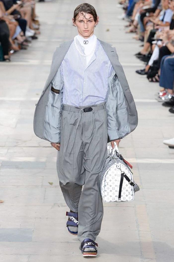 Louis Vuitton Men's Spring 2018 Collection gray suit