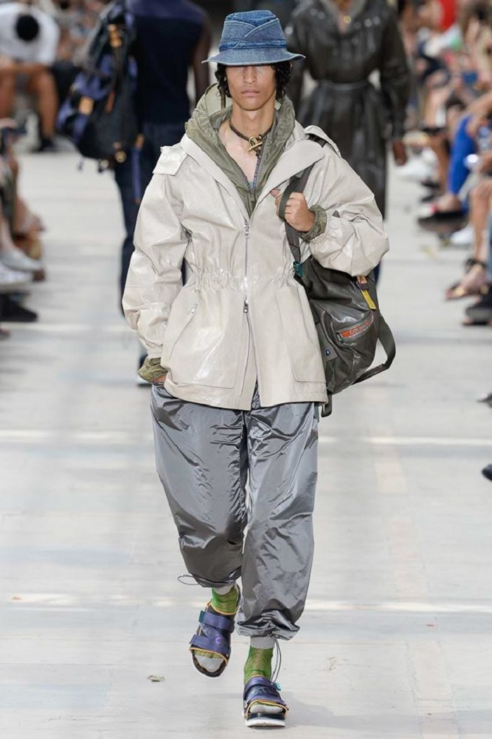 Louis Vuitton Men's Spring 2018 Collection oversized coat and pants