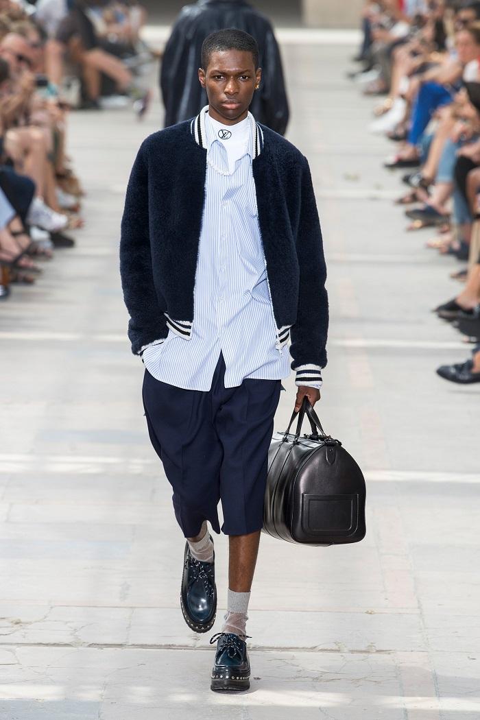 Louis Vuitton Men's Spring 2018 Collection bomber jacket shorts