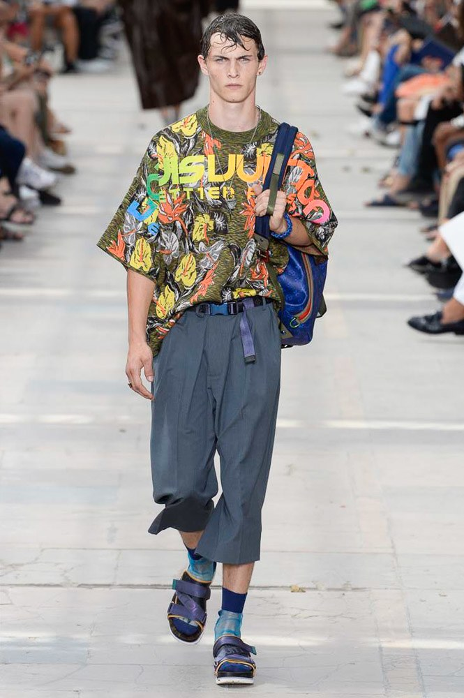 Louis Vuitton Men's Spring 2018 Collection aloha shirt backpack