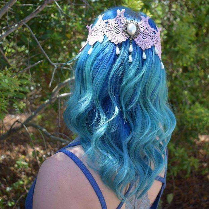 Ocean Hair Trend Blue Hair