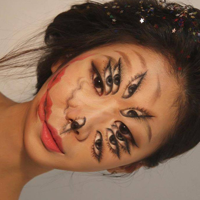 The Illusion Artist Dain Yoon Creates Mind-Blowing Looks eyes lips
