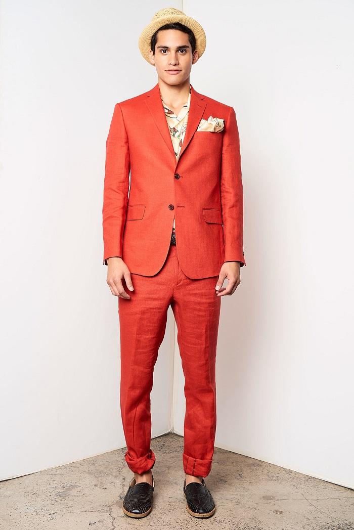 David Hart Men's Spring 2018 Collection orange suit