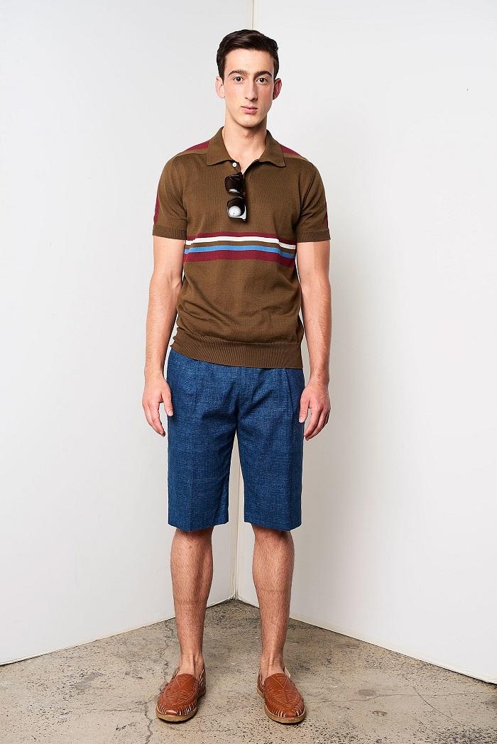 David Hart Men's Spring 2018 Collection polo shirt and shorts