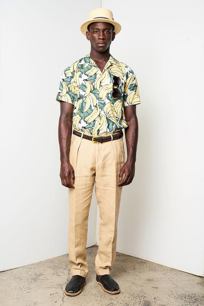David Hart Men's Spring 2018 Collection banana print shirt