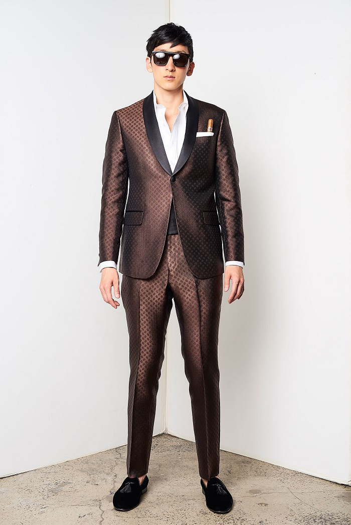 David Hart Men's Spring 2018 Collection brown suit