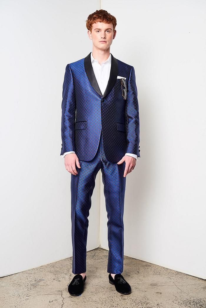 David Hart Men's Spring 2018 Collection dark blue suit