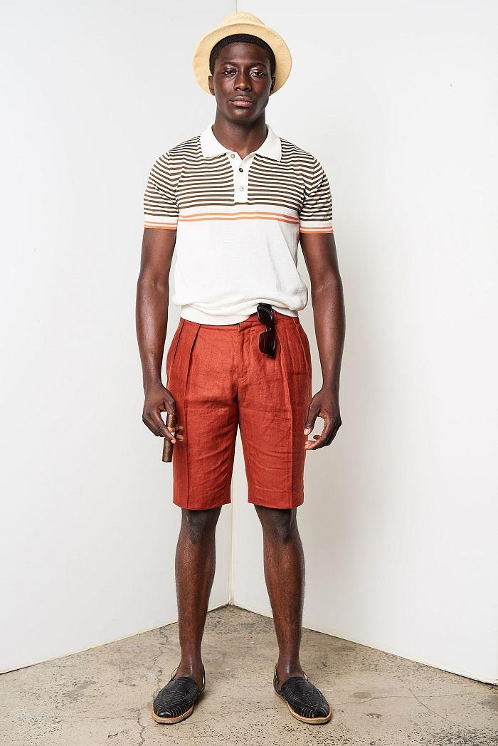 David Hart Men's Spring 2018 Collection polo shirt shorts
