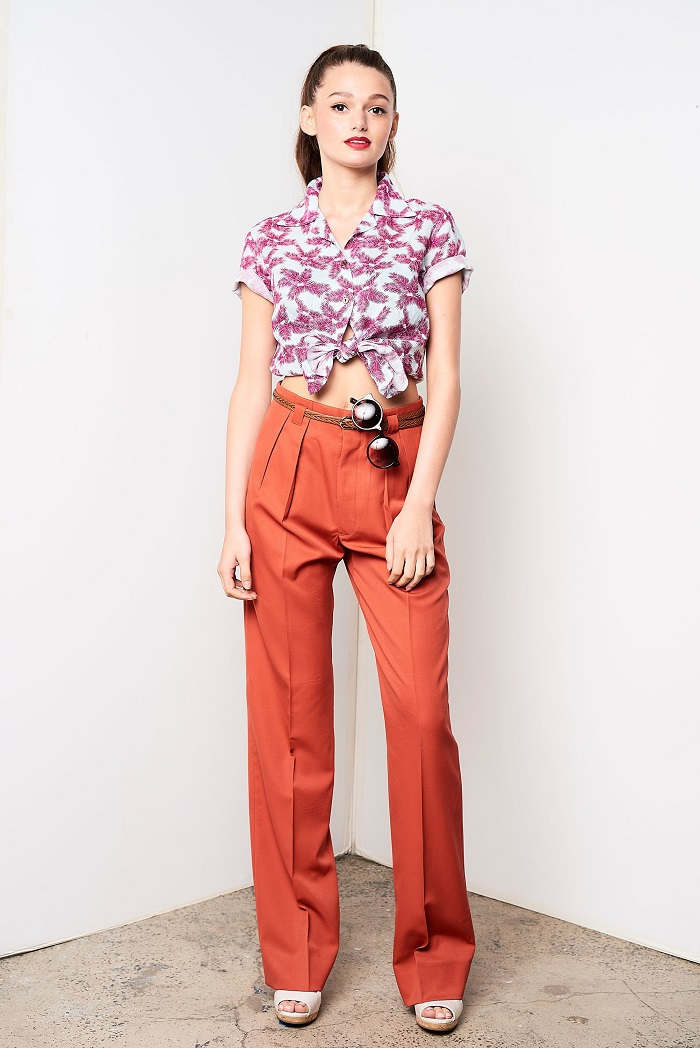 David Hart Men's Spring 2018 Collection Women's pants and shirt