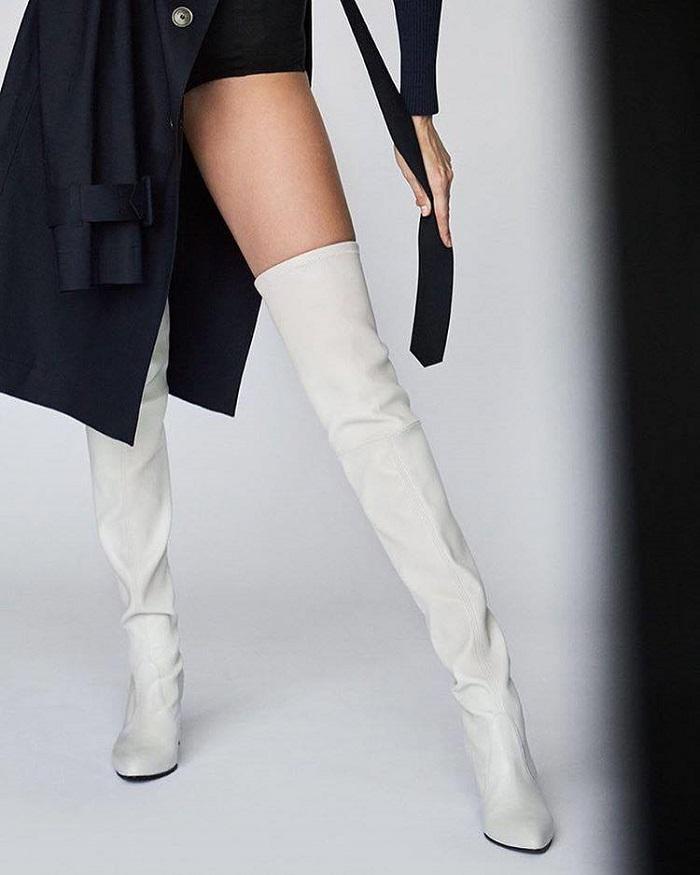 Gigi Hadid Flaunts a Pixie Cut in Stuart Weitzman's New Campaign Tiemodel boots