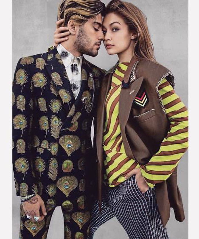 Gigi Hadid and Zayn Malik Exchange Clothes in August's Vogue