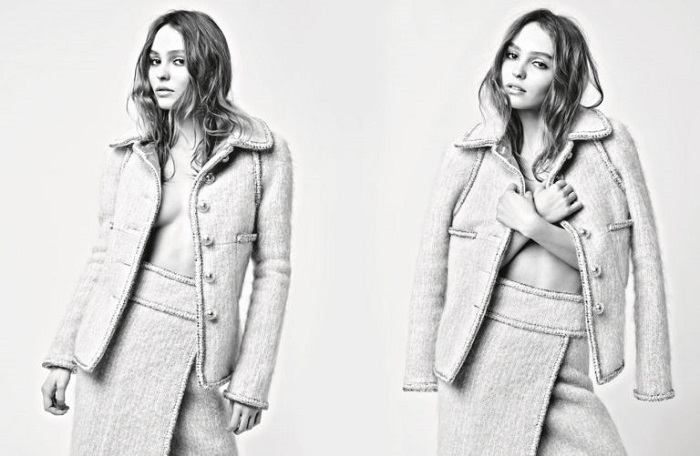 Lily-Rose Depp and Cara Delevingne are Chanel's Muses for the Fall 2017 Campaign suit