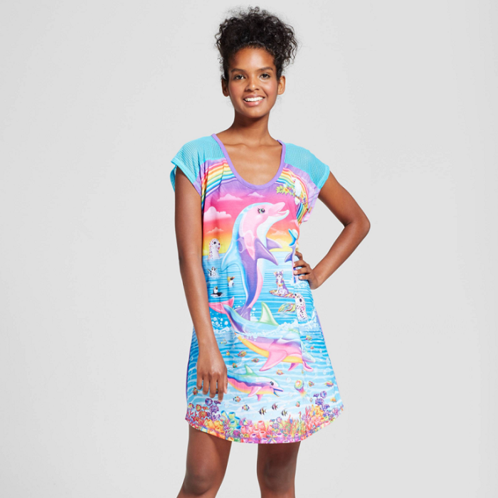 Lisa Frank X Target is a 90's Inspired Pajamas Collection dolphin night shirt