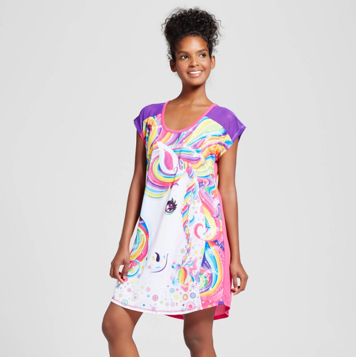 Lisa Frank X Target is a 90's Inspired Pajamas Collection unicorn night shirt