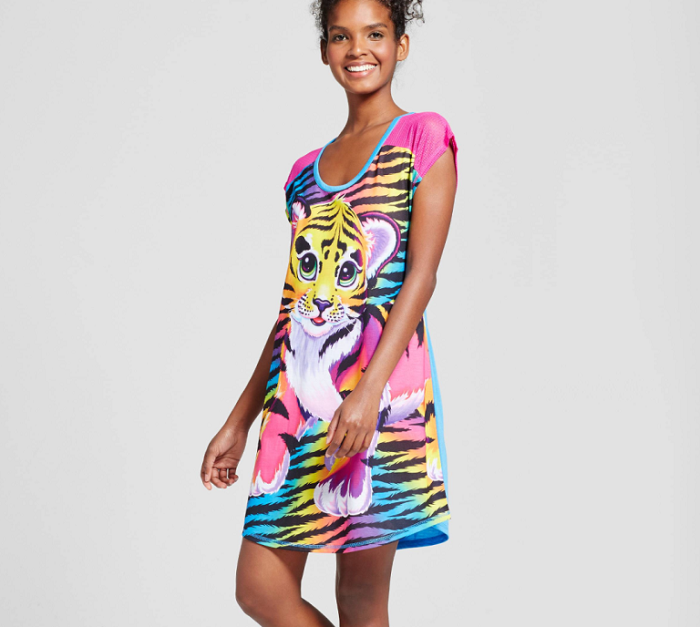 Lisa Frank X Target is a 90's Inspired Pajamas Collection tiger shirt