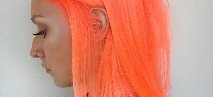 Neon Peach Hair is The Ultimate Summer Hair Trend