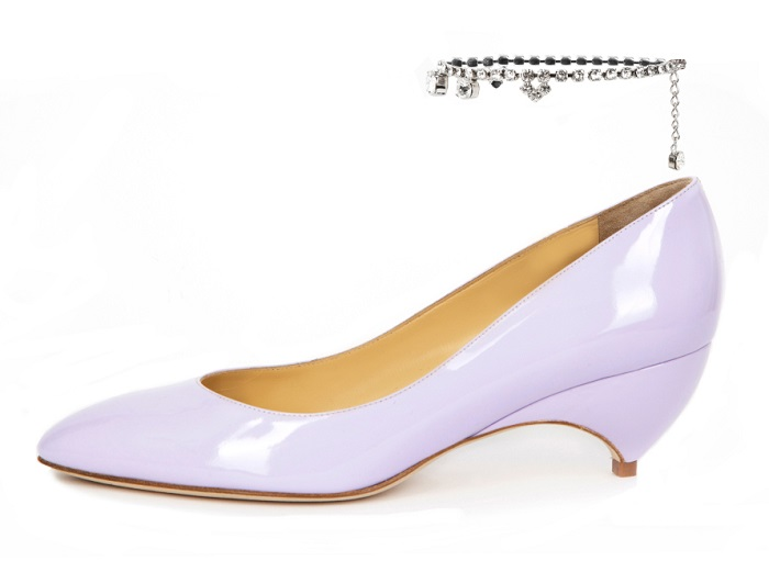 Rihanna's Stylist Avigail Collins and Fantasy Brand Liudmila Collaborated on a Shoe Collection lavender pump