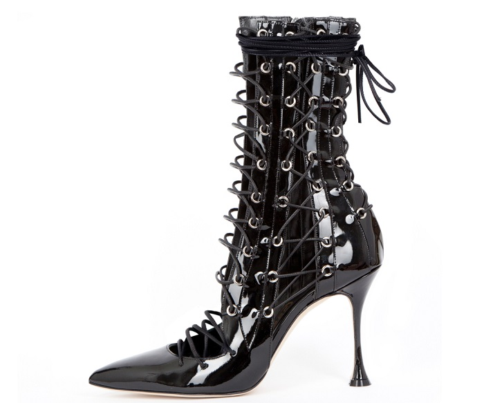 Rihanna's Stylist Avigail Collins and Fantasy Brand Liudmila Collaborated on a Shoe Collection black lace-up boots