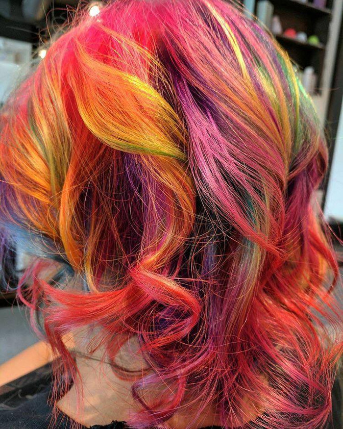 The Fruity Pebbles Hair Trend is Taking Over Instagram Colorful Hair