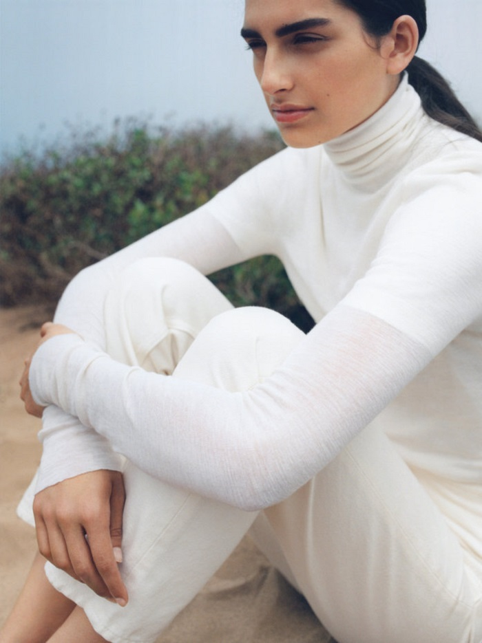 H&M's Brand Arket Unveiled Its First Campaign white jeans and turtleneck
