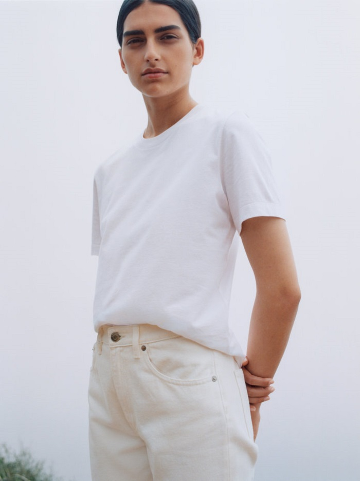 H&M's Brand Arket Unveiled Its First Campaign white jeans and shirt