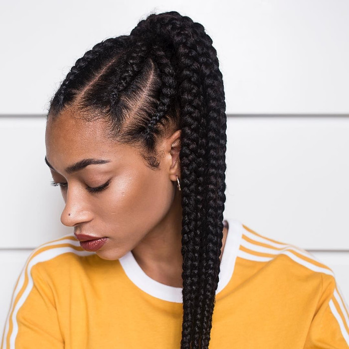 Hairstyles That Will Keep You Cool In The Heat Box Braids Pony